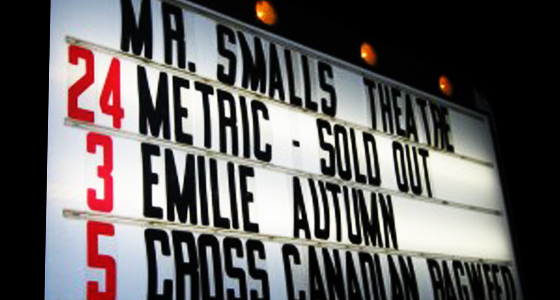 Metric - Mr. Smalls Theater