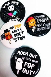 Viva Pops Buttons