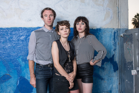Those Darlins before their show at Soda Bar